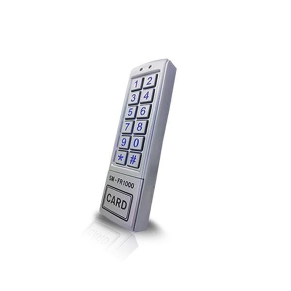 (자가설치-유리문출입통제)SM-FR1000 방수형카드키 RFID카드인식리더기 강화유리도어 유리문 출입통제시스템 보안장치