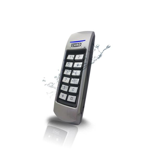 (자가설치-유리문출입통제)GM-100 방수형카드키 RFID카드인식리더기 강화유리도어 유리문 출입통제시스템 보안장치